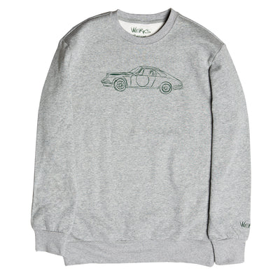 "Werks ""Long Hood"" Crew Sweater - Heather Grey"