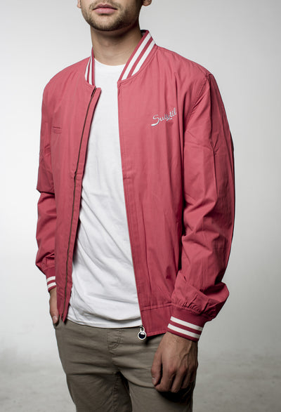 Suixtil Barcelona Bomber Jacket - Faded Red
