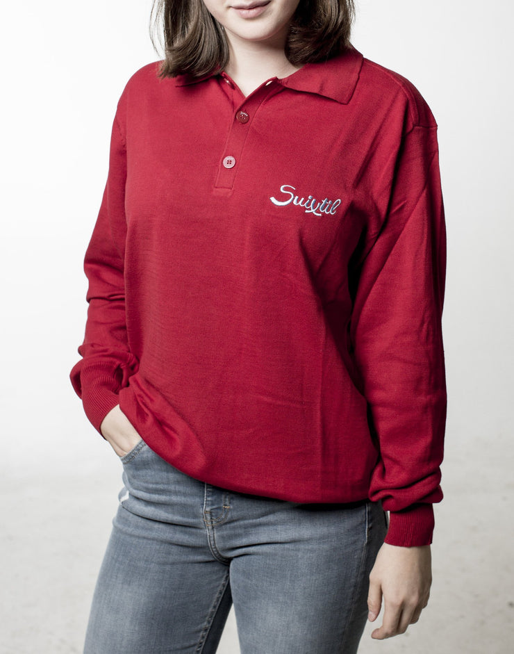 Targa Pima Polo Sweater - Vintage Italian Red