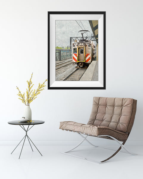 Chicago Metra Electric Train Print by Catch A Star Fine Art