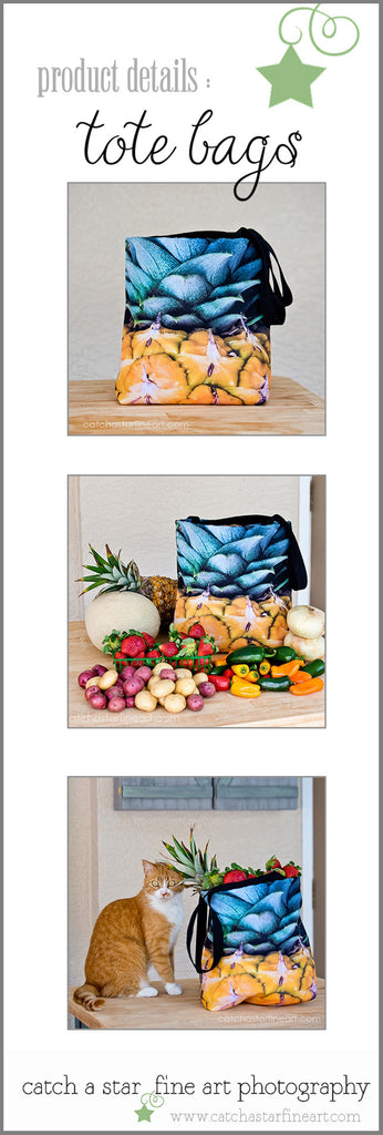 reusable farmers market tote bag by catch a star fine art