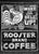 Rooster Coffee Vintage Black & White Ad - Catch A Star Fine Art