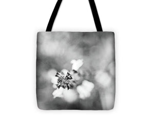 Abstract Bloom - Tote Bag (black & white)