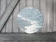 Round Art Sticker - Abstract Beach Shoreline - Catch A Star Fine Art