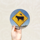 Round Art Sticker - Alien Cow - Catch A Star Fine Art