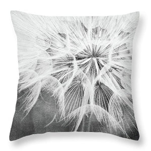 Dandelion Pillow, black & white - Catch A Star Fine Art