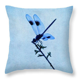 Blue Dragonfly - Throw Pillow
