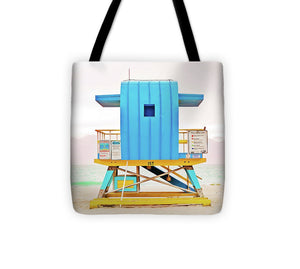 Blue Lifeguard Tower #2 - Tote Bag