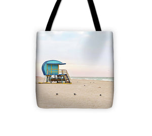 Blue Lifeguard Tower #4 - Tote Bag