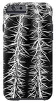 Cactus Close Up - Phone Case (black & white)