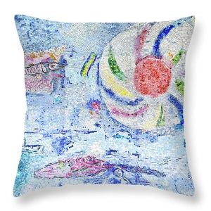 Chagall Mosaic Pillow (Blue) - Catch A Star Fine Art