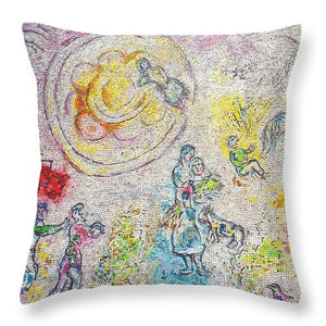 Chagall Mosaic Pillow (Pink) - Catch A Star Fine Art
