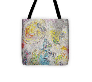 Chagall Mosaic Tote Bag (Pink) - Catch A Star Fine Art