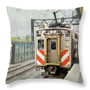 Chicago Metra Electric Train - Throw Pillow