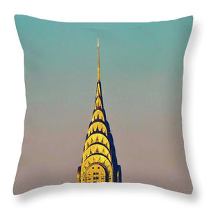 Chrysler Building, New York City Architecture - Throw Pillow