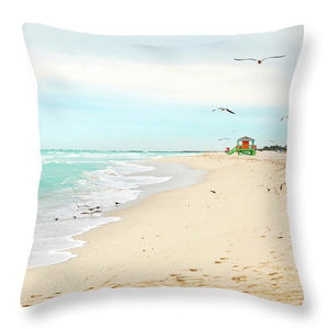 Coastal Miami Beach Shoreline #2 - Throw Pillow