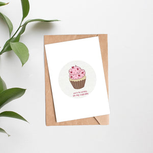 February 2020 - SPRINKLES ON MY CUPCAKE folded card - Catch A Star Fine Art