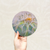 Round Art Sticker - Dandelion - Catch A Star Fine Art