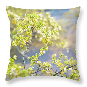 Golden Yellow Desert Flowers - Throw Pillow