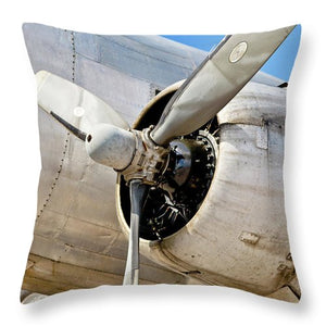 Historic Aviation Military Propeller - Throw Pillow
