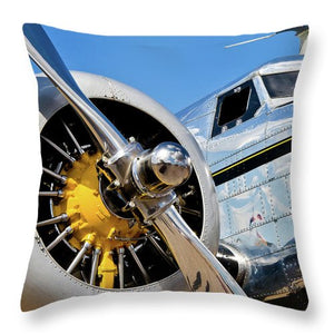 Historic Military Airplane Propeller - Throw Pillow