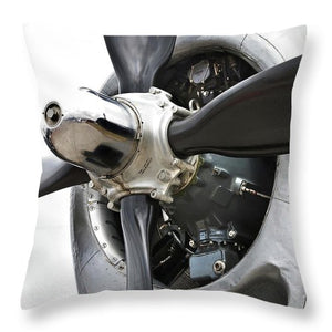 Historic Military Plane Propeller - Throw Pillow