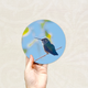 Round Art Sticker - Hummingbird 3 - Catch A Star Fine Art