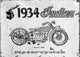 Indian Motorcycle Vintage Black and White Ad - Catch A Star Fine Art