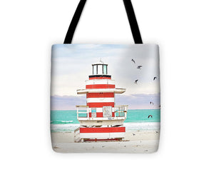 Lighthouse #2, Miami Beach - Tote Bag