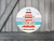 Round Art Sticker - Lighthouse Lifeguard Tower - Catch A Star Fine Art