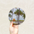 Round Art Sticker - Miami Beach - Catch A Star Fine Art