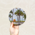 Round Art Sticker - Miami Beach