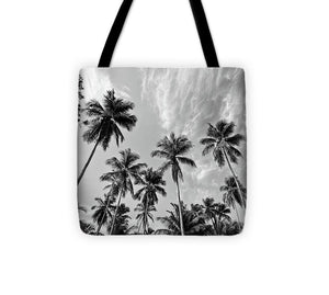 Magen's Bay Palms - Tote Bag (black & white)