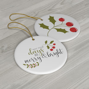 Merry & Bright Holiday Ornament