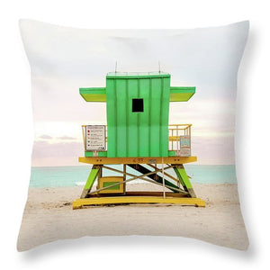 Lifeguard Stand Green #5 - Throw Pillow