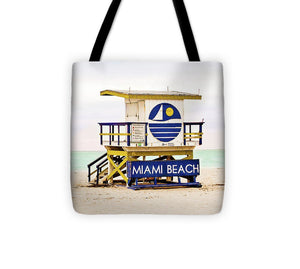 Miami Beach Lifeguard Hut #1 Tote Bag - Catch A Star Fine Art