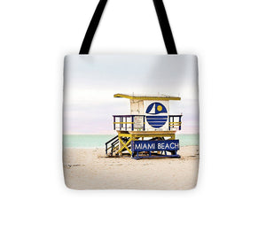 Miami Beach Lifeguard Tower #2 - Tote Bag