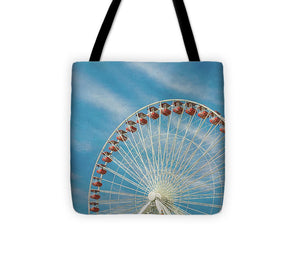 Navy Pier Ferris Wheel, Chicago Tote Bag - Catch A Star Fine Art
