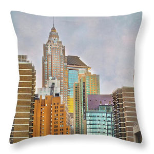 New York Street Scene #2 - Throw Pillow
