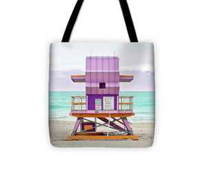 Purple Lifeguard Stand #1 - Tote Bag