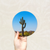Round Art Sticker - Saguaro - Catch A Star Fine Art