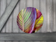 Round Art Sticker - Tropical Palm Leaf - Catch A Star Fine Art