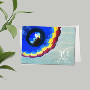 Say Yes To Adventure - Greeting Card - Catch A Star Fine Art