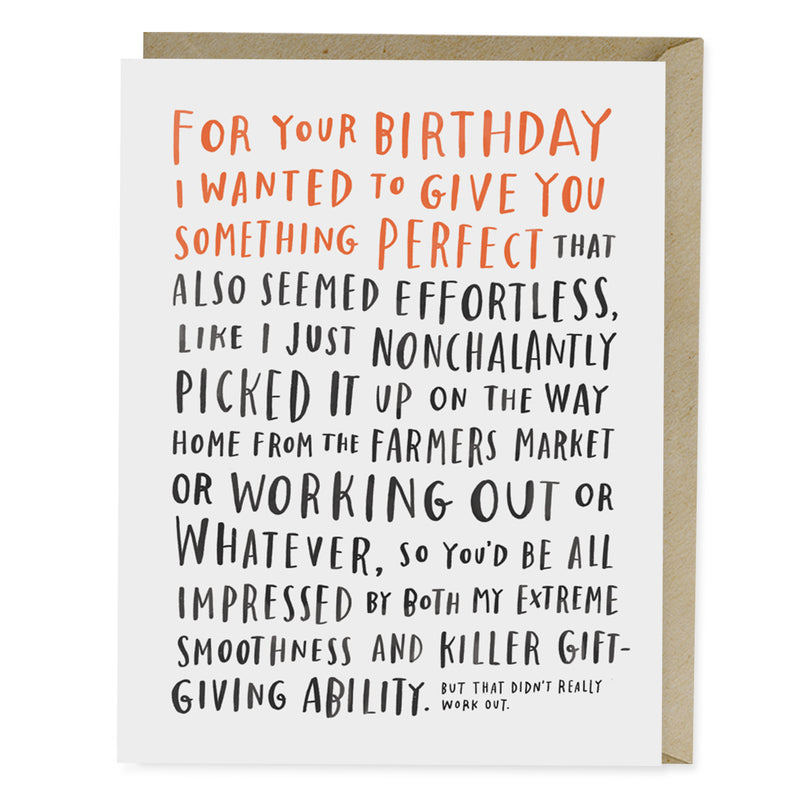 Awkward Birthday Card