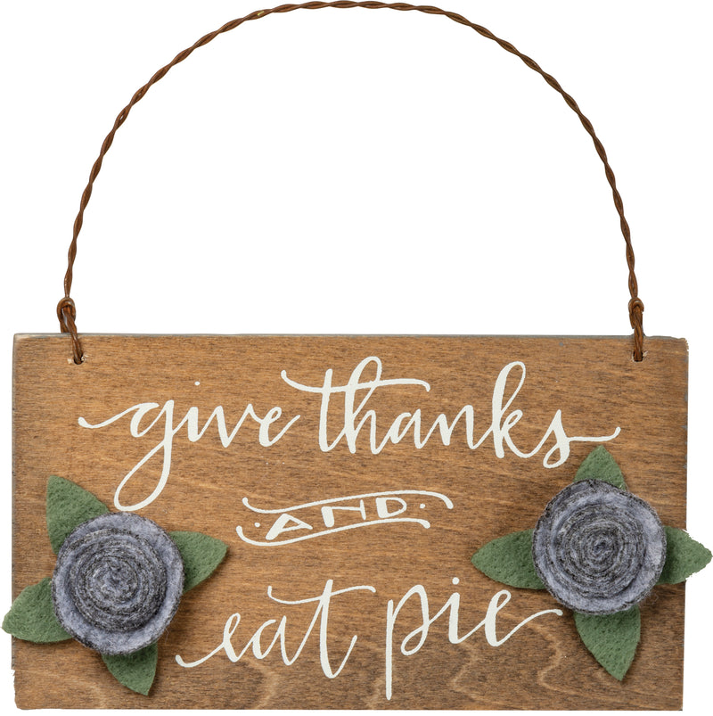 Give Thanks & Eat Pie Ornament