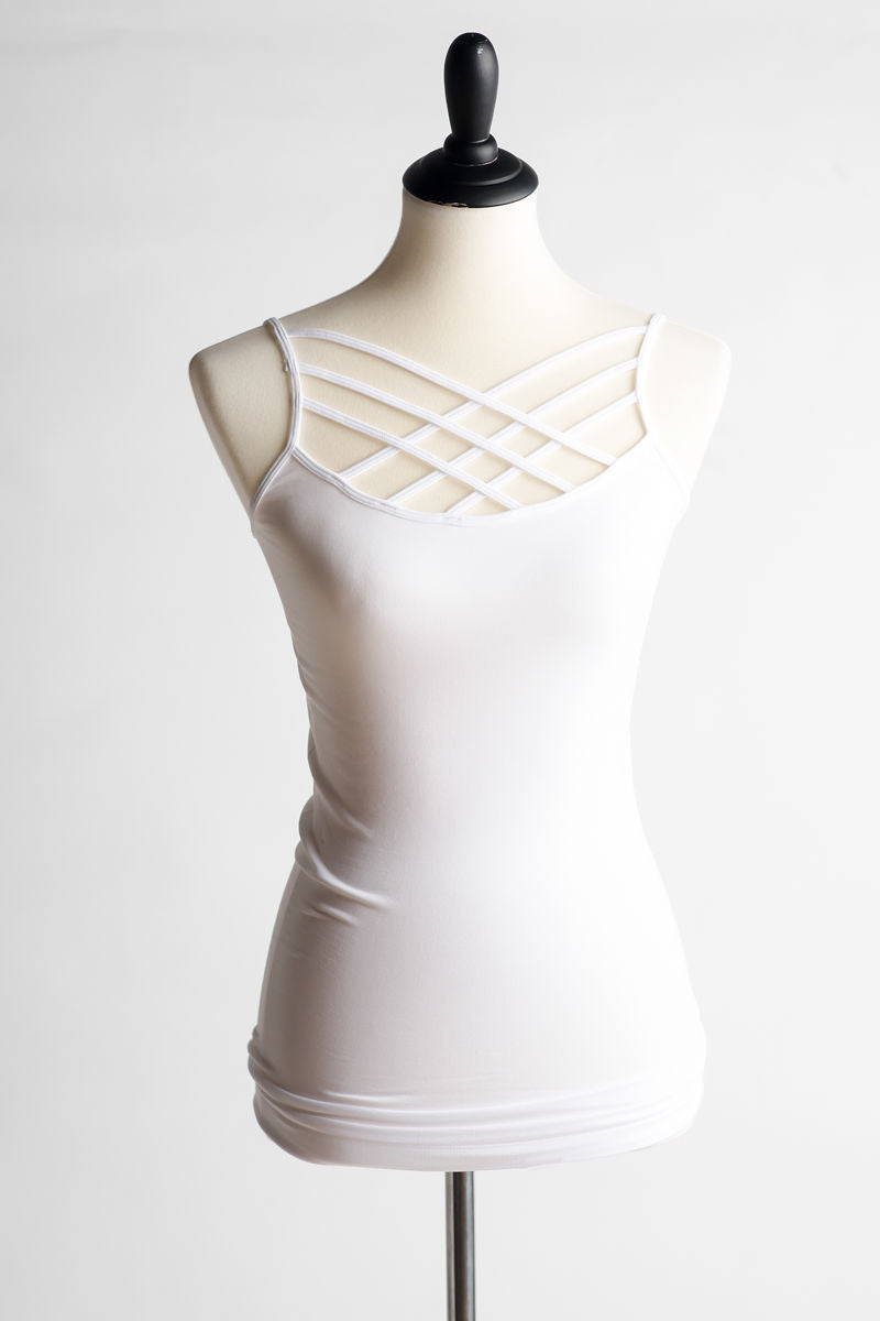 Criss-Cross Slim Fit Cami - lots of colors