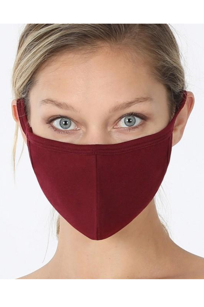 Adult Mask, Burgundy