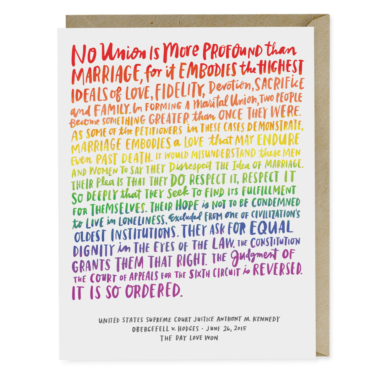 Love Wins Wedding Card