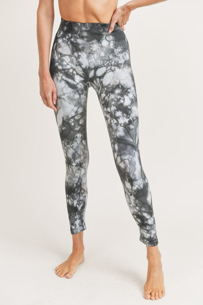 Mono B Tie-Dye Seamless Ribbed Highwaist Leggings