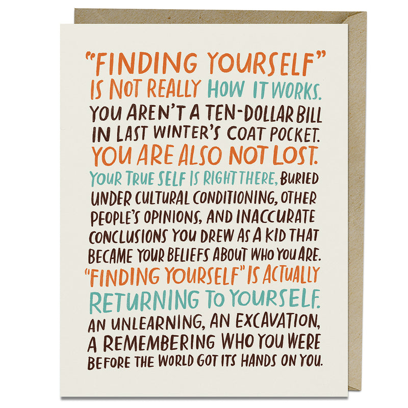 Finding Yourself Card